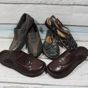 3 Pair of Clarks Sandals Mules Clogs Bundle 5 M